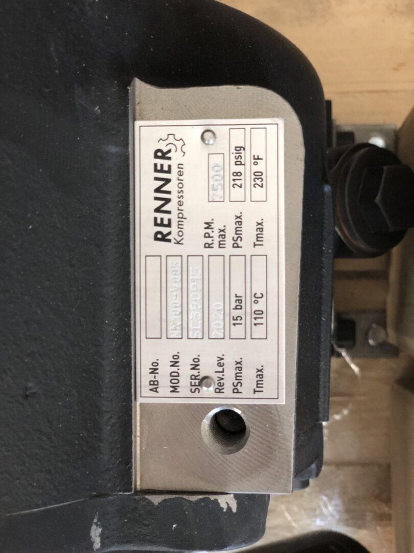 винтовой блок Rotorcomp для компрессора Реннер