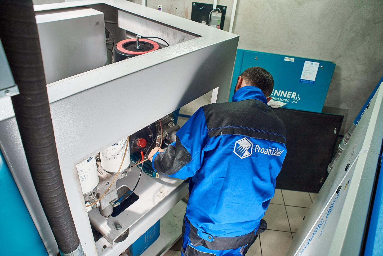 технічне обслуговування та ремонт гвинтового компресора Реннер